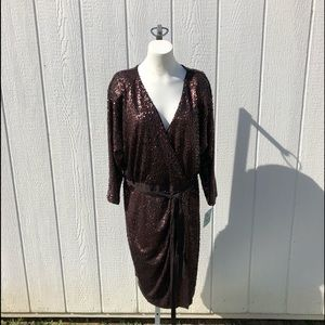 Suzi Chin for Maggy Boutique Sequins Dress Size 14